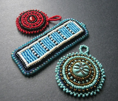 Assorted Bead Embroidery Pendants