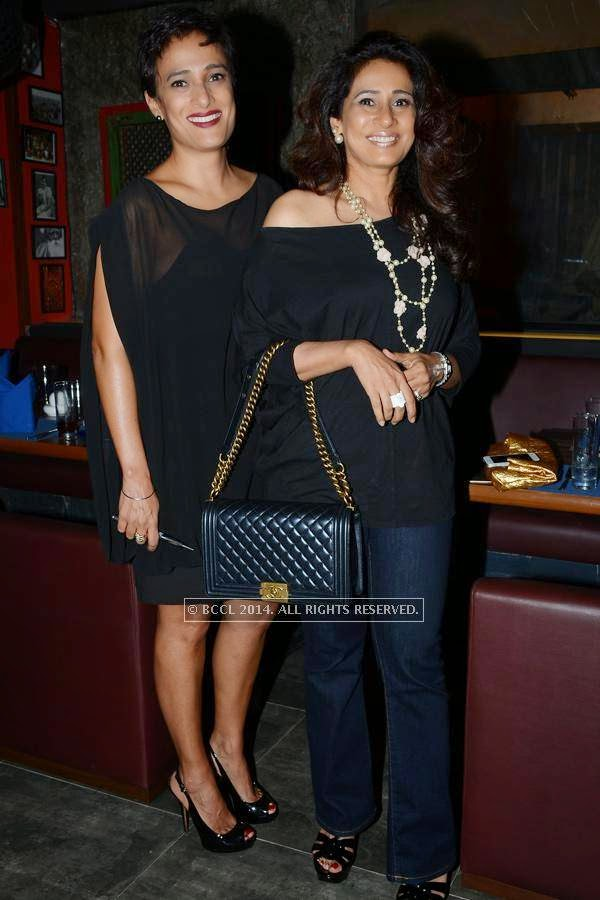 Amrita and Jasmine during the launch of Eat India Company - Kitchen and Bar, in Hyderabad.