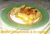 Gratin dauphinois à la courge - recette indexée dans les Légumes