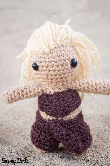 Daenerys (Juego de Tronos) amigurumi - Enemy Dolls