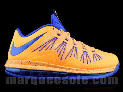 nike lebron 10 low gr orange blue 1 04 First Look at Nike LeBron X Low   Cavs Hardwood Classic?!