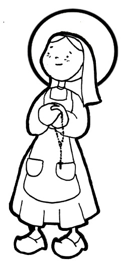 Saint Bernadette coloring pages