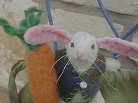 Custom Bunny - You Pick Color - Teeny Bunny, Gift Bag and Carrot