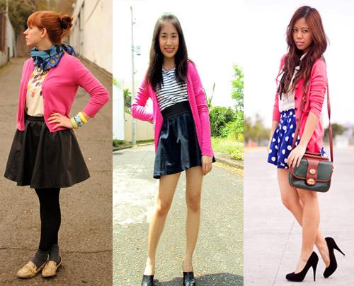 Como usar cardigan cor de rosa