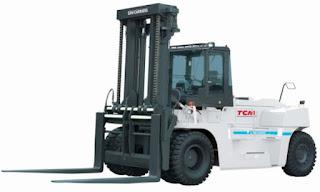 Xe nâng diesel 10 - 16 tấn TCM Nhật Bản