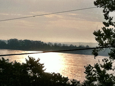 mississippi,river,morning,overlook,power,lines