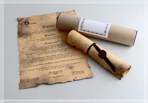 Invitación antigua de boda