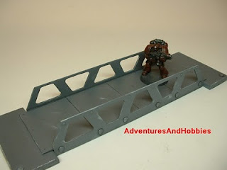 Small high tech pedestrian bridge view 2 Science Fiction war game terrain and scenery