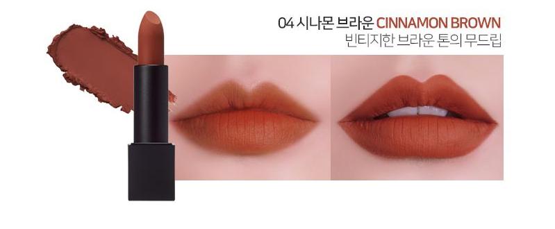 Son LUNA Realway Velvet Lipstick Cinnamon Brown