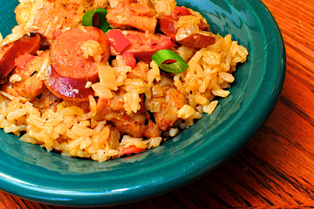 Jambalaya with Chicken and Sausage - Dad Cooks Dinner