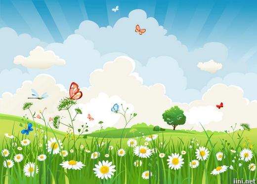 ảnh những chú bướm bay trong vườn hoa cỏ mùa xuân