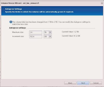 Incrementar tamaño de LUN en SAN NetApp