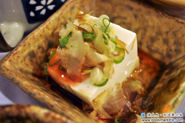 三好狸日式定食前菜涼伴豆腐