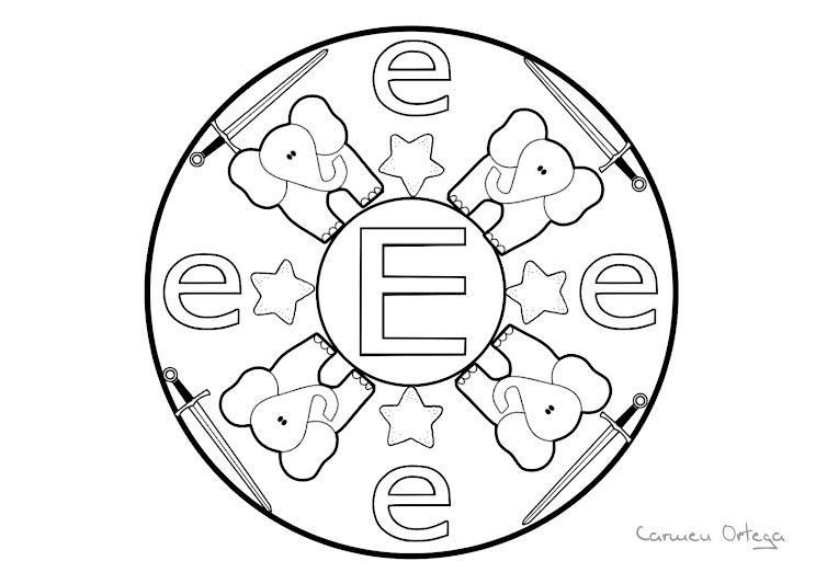Dibujo De Mandala 11 Para Pintar Y Colorear En Línea: Dibujos Para Colorear. Maestra De Infantil Y Primaria
