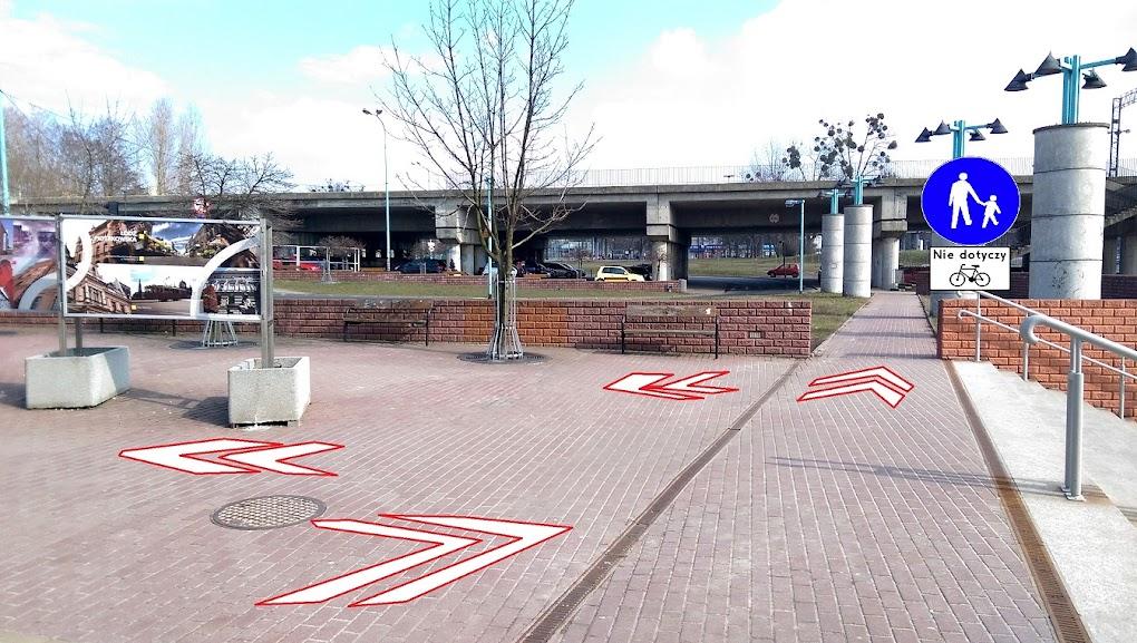 Wykorzystanie fragmentu chodnika, z którego praktycznie nie korzysta żaden pieszy