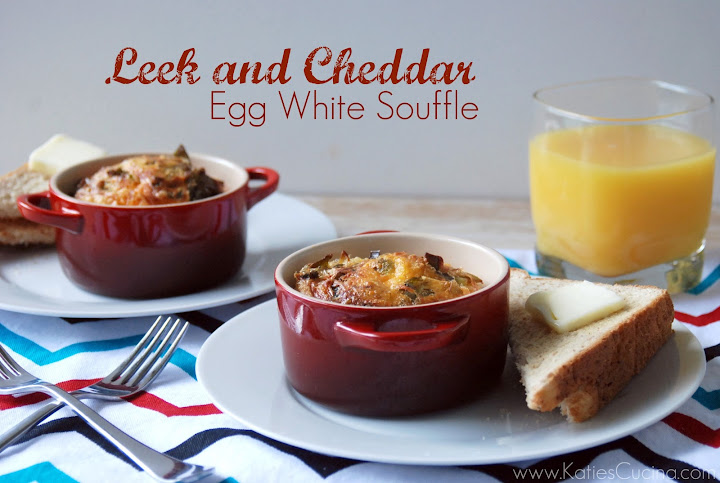 Leek and Cheddar Egg White Souffle