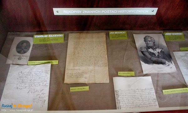 Muzeum Pamięci Walki o Niepodległość Narodu w Wąchocku - rękopisy postaci historycznych