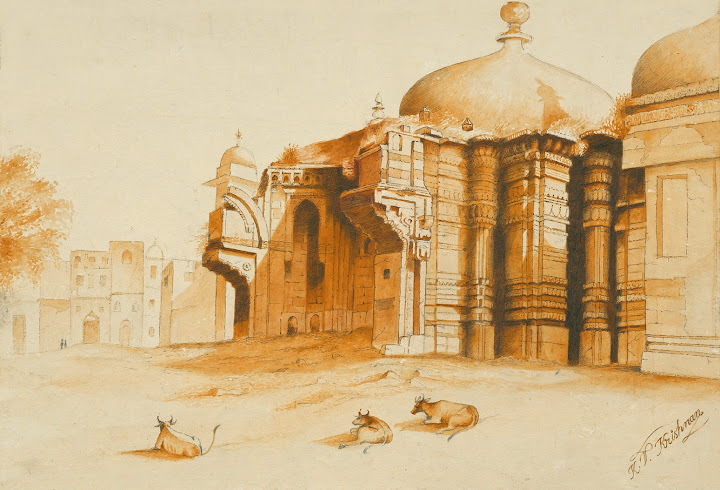 Integration Inconceivable: Gyanvapi Mosque. Rambles into Sacred Realms: Journeys in Pen & Paint, by Krish V. Krishnan