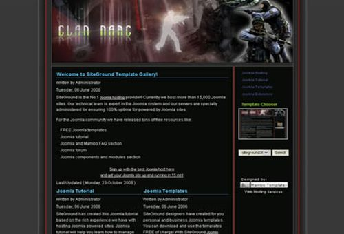 Free Joomla Counter Strike Clan Web2.0 Theme Template