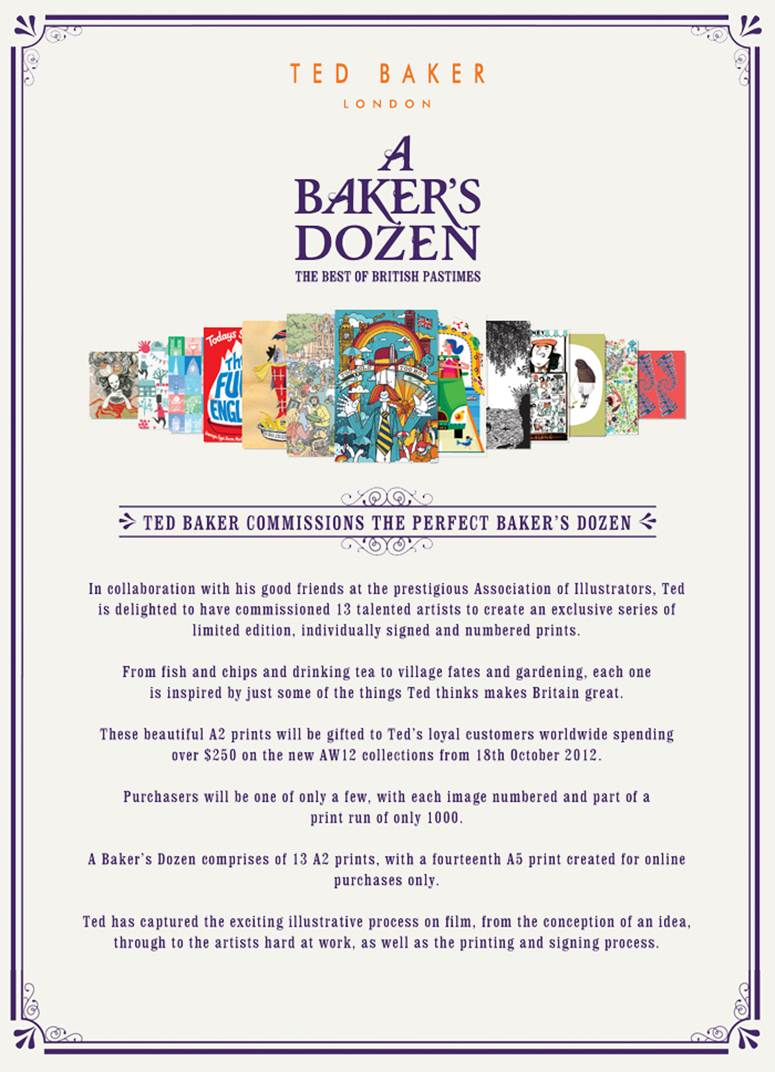 Ted Baker Commissions The Perfect Baker's Dozen
