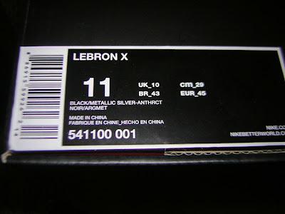 nike lebron 10 gr black anthracite 2 04 Fake LeBron X
