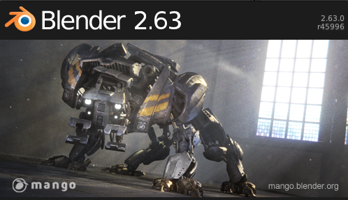 Sortie de Blender 2.63 Blender2.63
