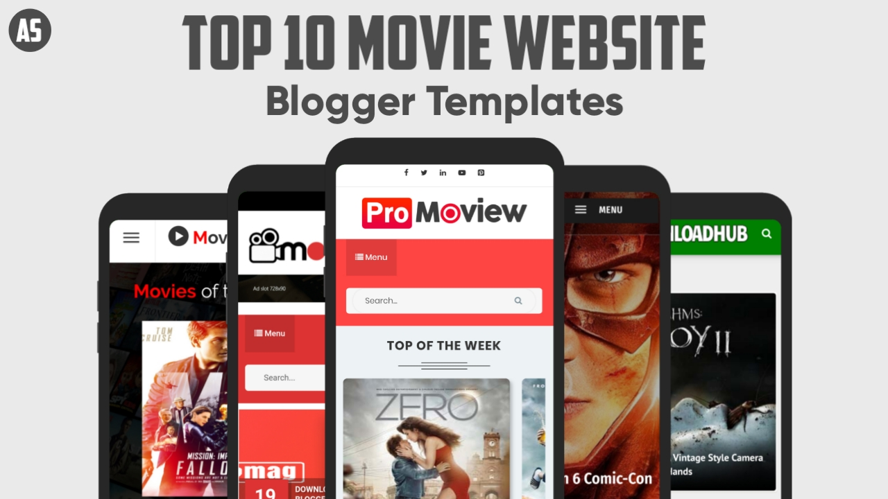 Top 10 Movie Website Blogger Templates Free Download
