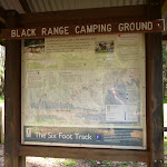 Sign in front of Black Range Camping Ground (416999)