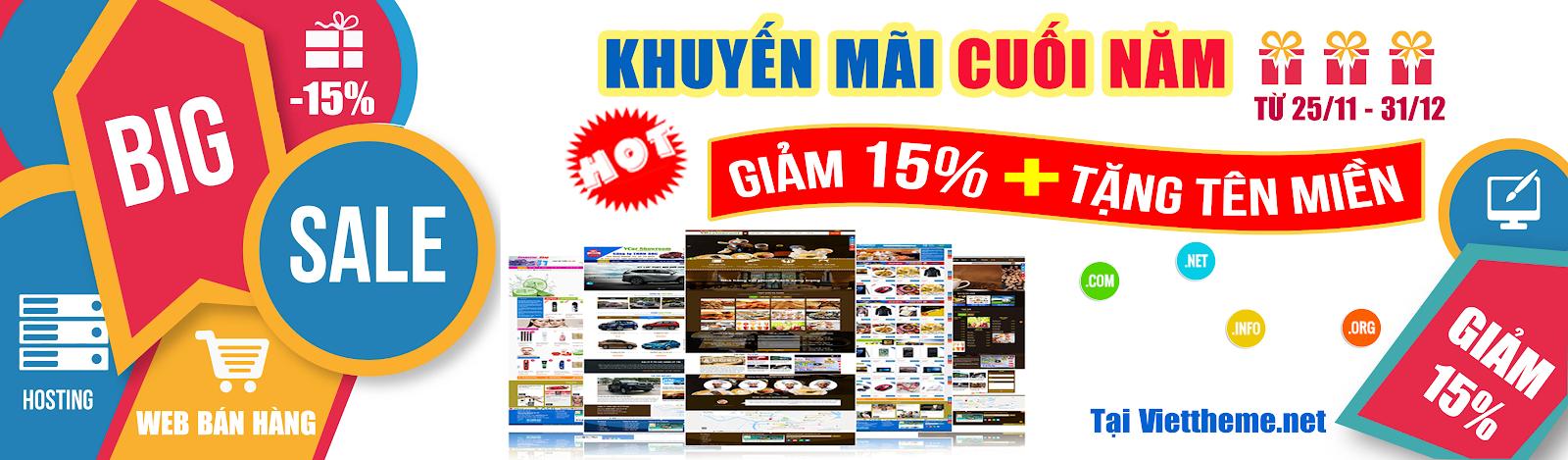 Giảm 15% template blogspot và tặng ngay tên miền quốc tế