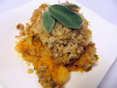 Pechluck's Pumpkin Mac and Cheese Recipe- uses less cheese because the pumpkin adds creaminess