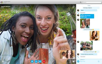 Skype ventana de videollamadas mejorada