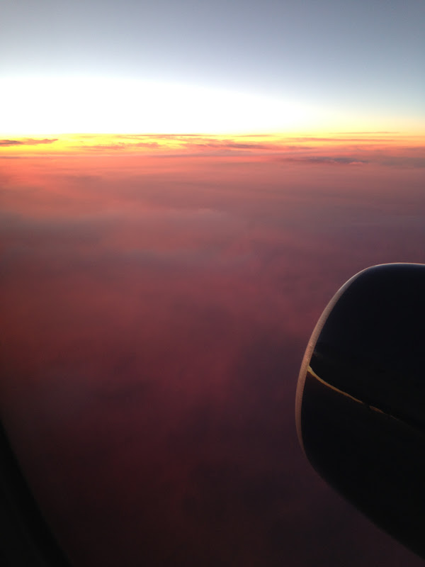 Sunset from the air