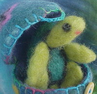 Needle felted Sea Turtle in an Egg at Etsy!  Ready to Ship!