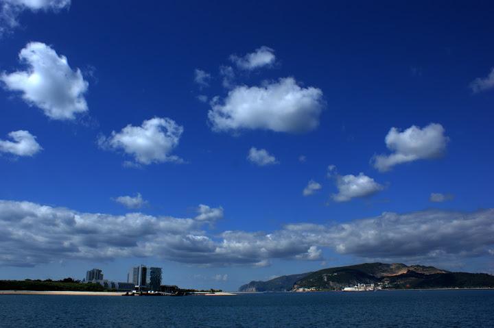 Azul... o rio azul, o céu azul.. o Sado