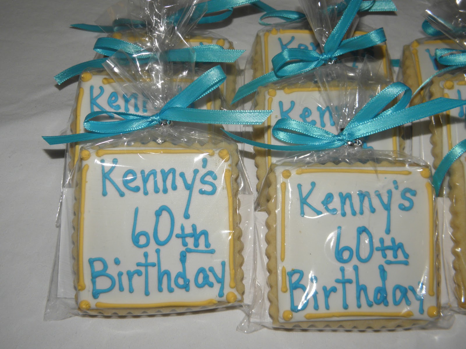 Cookie Dreams Cookie Co 60th Birthday Cookie Favors