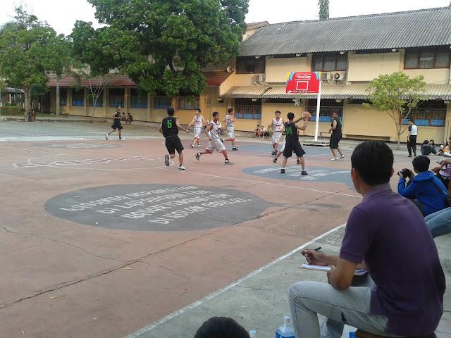 Pertandingan Basket di Porkab Gunungkidul 2012