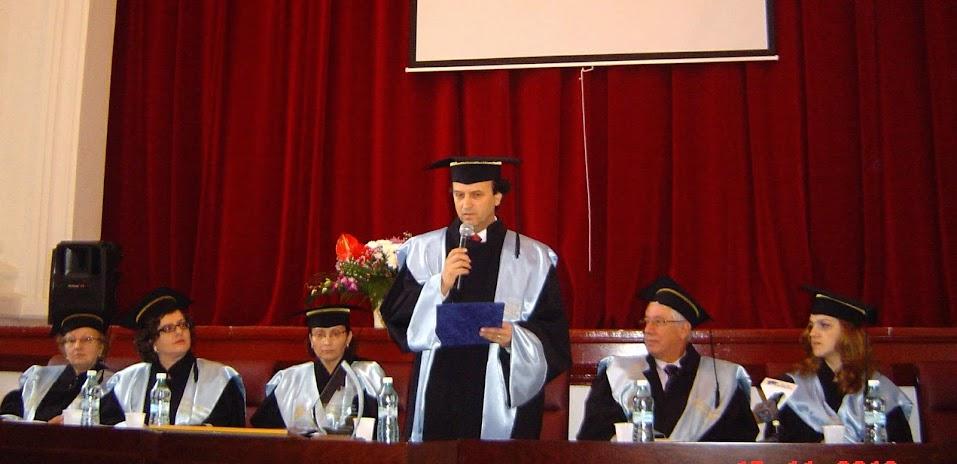 Prof. univ. dr. Mircea A. Diaconu, Doctor Honoris Causa al Universităţii Galaţi