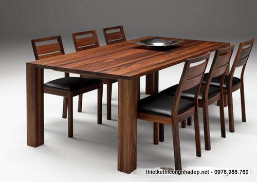 Ghế phòng ăn 6 ghế hiện đại gỗ dổi