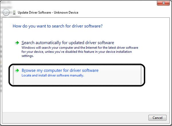 windows asks how to search the driver