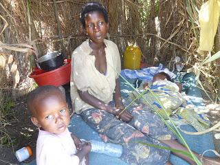 Une des femmes déplacées fuyant les affrontements entre groupes armés à Uvira, au Sud-Kivu/Ph. Droits Tiers.