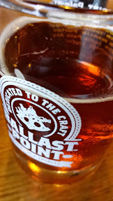 A taster of a beer at Ballast Point