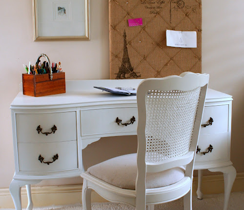 Lilyfield Life: White French Provincial Writing Desk