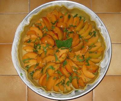 tarte au fromage blanc et à l'abricot - préparation