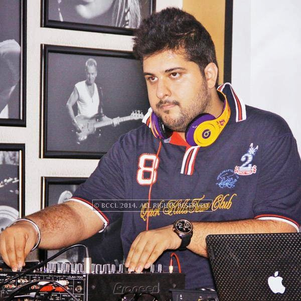 DJ Gunjan during the Retro Nights at AMPM Cafe & Bar in New Delhi.