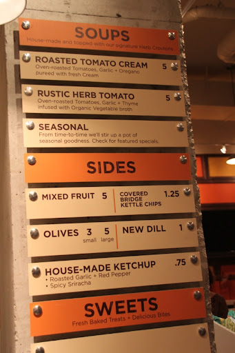 The sides and sweets menu at Cheesewerks.