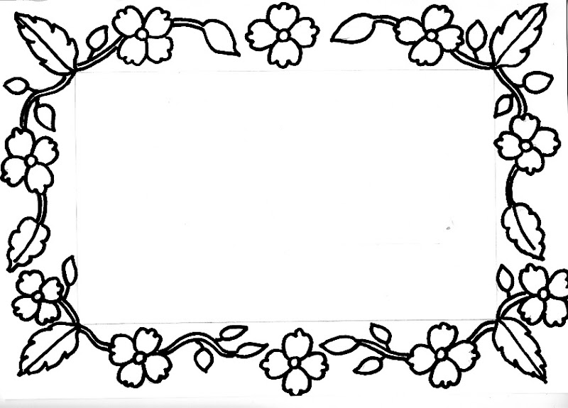 Dibujos De Bordes Y Marcos Para Fotos Con Flores Imagui