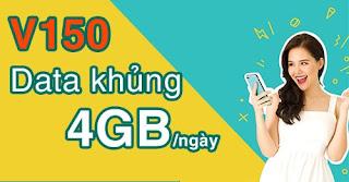 Tặng 120GB, Gọi thoải mái Gói V150 Viettel