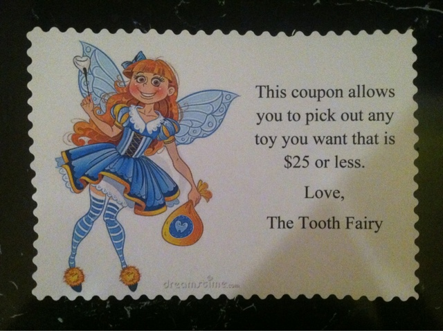 tooth fairy coupon