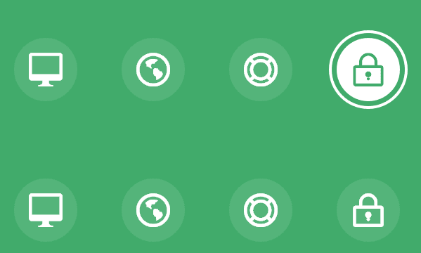 Icon Hover Effects with CSS transitions and animations