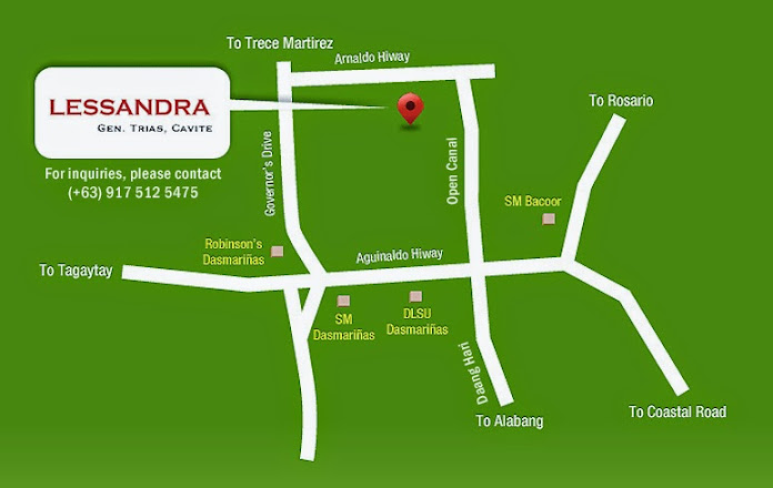 Vicinity Map Location - Lessandra Gen. Trias | Crown Asia Prime House for Sale Gen. Trias Cavite